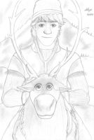 Kristoff and Sven by Ergonis