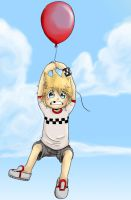 Roxas and his Balloon by spuds-n-stuff