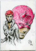 Sketch Card: Matt and Nat by JasonShoemaker