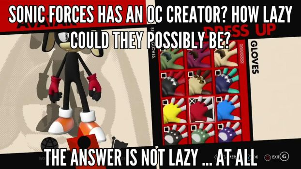 OC creator isn't lazy by jacobsonic84