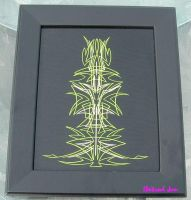 Pinstriping green by HotRodJen