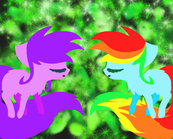 Purple and Skittles by Skittles-the-kitty