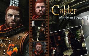Skyrim: Calder, Windhelm Housecarl by CelticWolfwalker