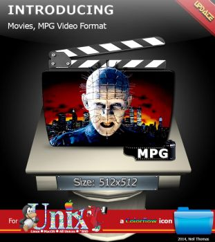 Movies, MPG format folder icon (ColorFlow) by nt291263