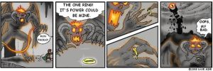 Balrog and the One Ring by peskinhead
