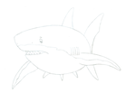 Sketch - Great White Shark by TheOrcaPilot