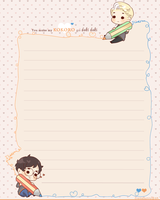 Drarry Stationary - 1/5 by Cremebunny