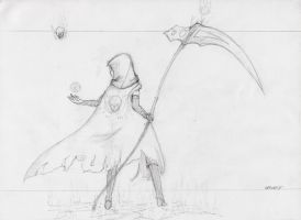 Harvest WIP sketch for the wall by X0DA