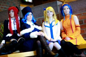 The ladies of Fairy Tail by LYS-Cosplay