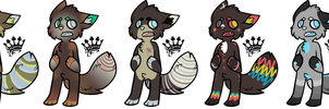 Anthro Cat Adopts 2 - (1/4 OPEN) by Batzy-Adopts