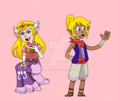 Tetra Zelda doodlies by LittleGreenHat