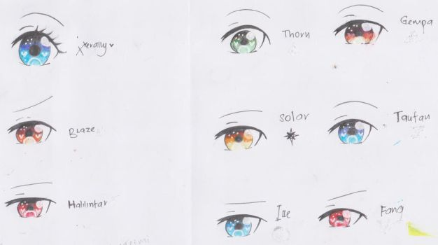 Test: Eye colouring by Xierally
