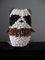 3d origami panda by OrigamiGenius