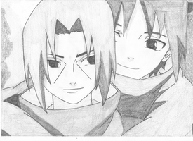 Uchiha Itachi and Sasuke by AiKurushi