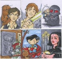 even nerdier sketch cards by katiecandraw