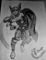 Thor Drawing by TheCoolCosplayer22
