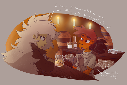 At the Bar by BeefBirb
