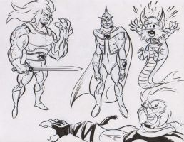 Thundercats doodles 1 by dfridolfs
