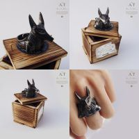 Anubis - ring made of silver  $165 by tivodar66