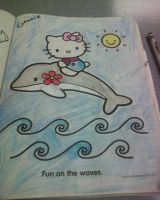 Second colored coloring page by Kittery