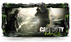 Sign Call Off Duty Modern Warfare 3 by gatadaay