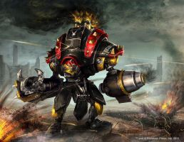 Warmachine Wrath: Black Ivan by Mikeypetrov