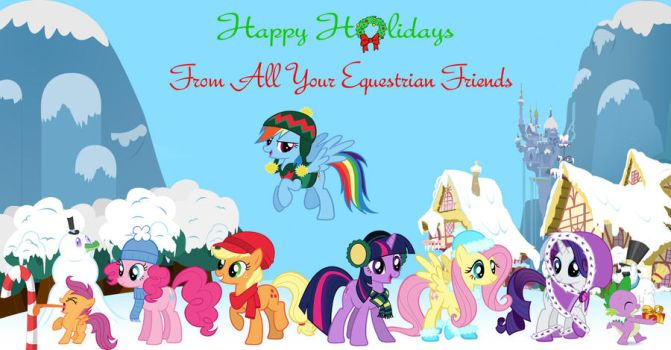 My Little Pony Christmas Card by Nightfire3024