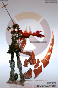 RWBY : Ruby Rose -Overwatch AU by dishwasher1910