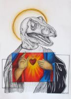 Raptor Jesus (He went Extinct for your sins) by corazongirl