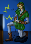 Link playing by naoguiarts