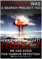 INDECT is like a Nuke! by OpGraffiti