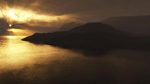 Lake In The Sunset by arcticskua