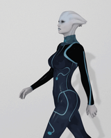 Asari Walk Animation by Mickytroisd