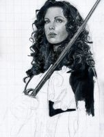Kate Beckinsale WIP 2 by theresebees