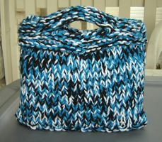 Knit Tri-Color Mini Tote by scarysk0olgurl