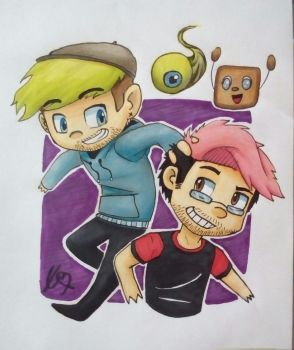 Markiplier and Jacksepticeye by CrazyEdzia