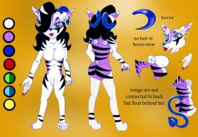 Reference sheet for Rogue GreyHeart. by BlueBRogue