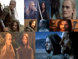 Aragorn and Legolas Wallpaper by Subaru-chan