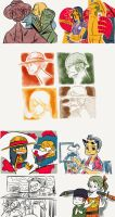 One Piece Fan Art Ipad Doodles by Microbluefish