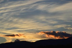 Natural fall sunset in Massif Central by A1Z2E3R