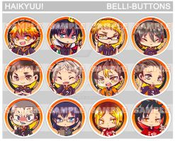 Haikyuu! Button set by jinyjin