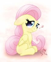 MLP FIM - Little Shy Fluttershy by Joakaha