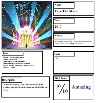 Face The Music Pros and Cons by happylemur37