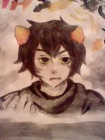 Karkat WATERCOLOR by Player0002