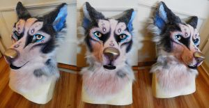 Husky Fursuit Head FOR SALE by AlieTheKitsune