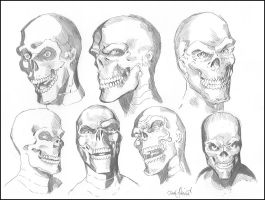 Red Skull Study by ChrisMcJunkin