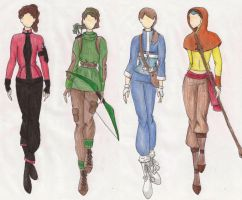 winter fashion design OC's by ardnemla