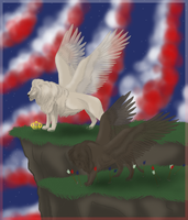 Polish eagle, American eagle by Valvador