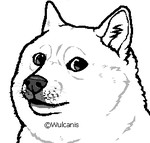 Shibe Lineart ( Free to use) REUPLOADED: MORE DOGE by Wulcanis