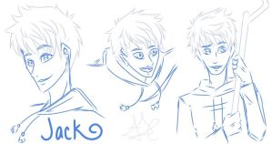 Jack Frost sketches by Fayolinn